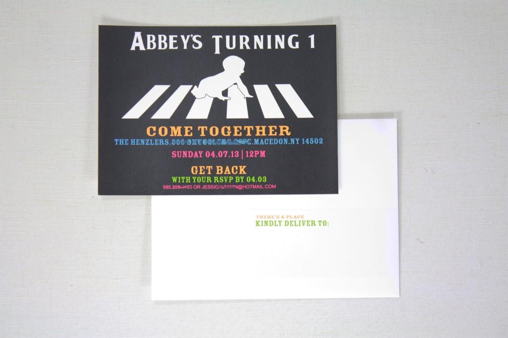 Abbey Road Beatles Theme Invitation