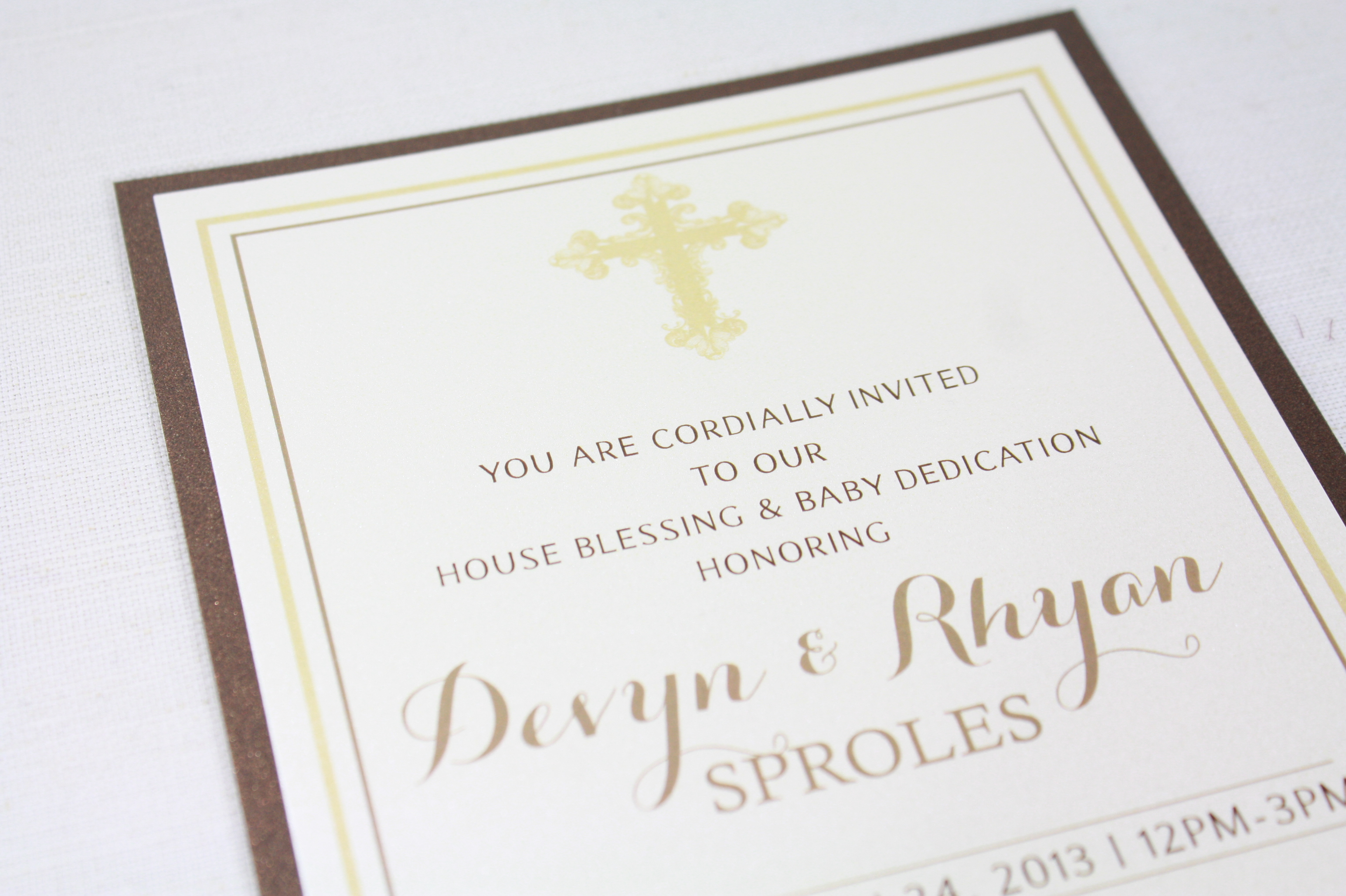Baby Dedication Invitation