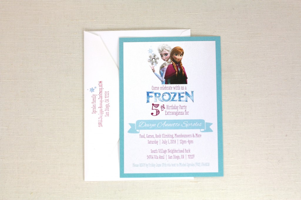 Frozen birthday party invitations