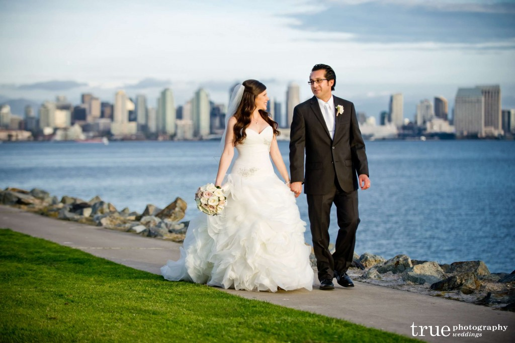 san diego bride and groom
