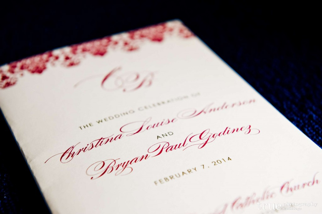 blush pink and gold program booklet cover