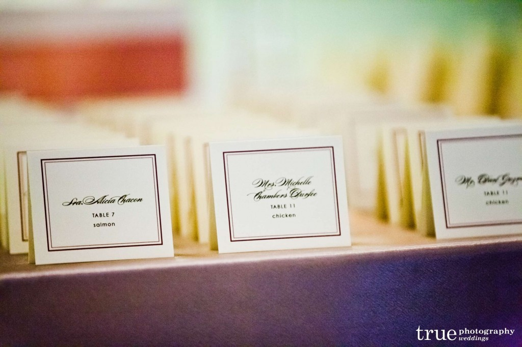 blush pink and gold place cards