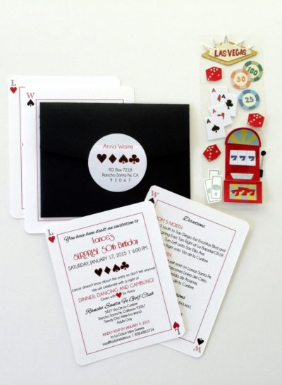 Casino Theme Invitations
