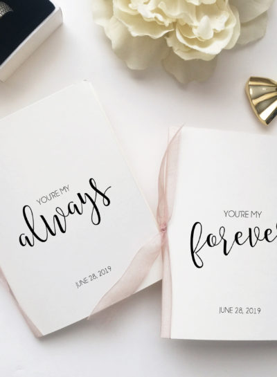 His and Hers Vows Card Booklet