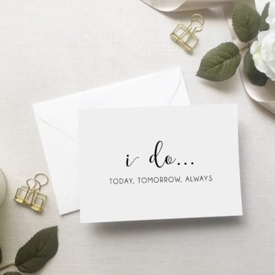 Say I Do with Cards and Vow Books