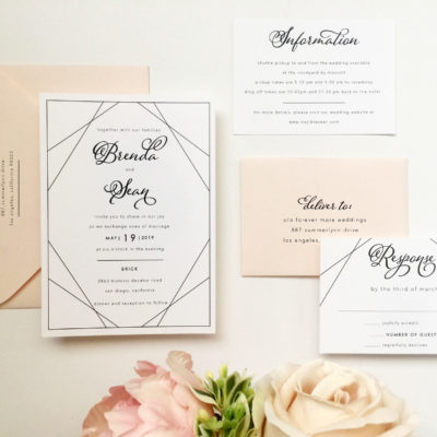 Modern Blush Wedding Invitations